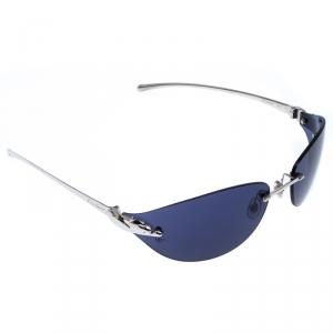 Cartier Blue Panthère de Cartier Rimless Oval Sunglasses