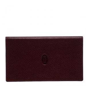 Cartier Burgundy Leather Must de Cartier Cheque Holder