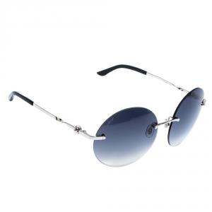 Cartier Palladium Plated / Grey Gradient Trinity Round Sunglasses