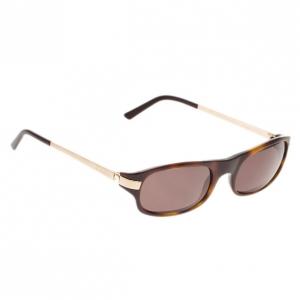 Cartier Brown Rectangle Sunglasses