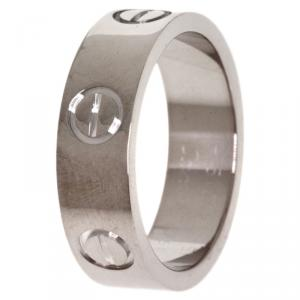 Cartier Love White Gold Ring Size 50