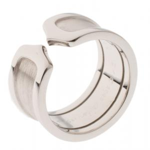 Cartier C De Cartier 18k white Gold Ring Size 50