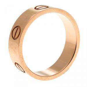 Cartier Love 18k Rose Gold Band Ring Size 56