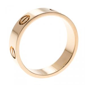 Cartier Love 18k Rose Gold Band Ring Size 59