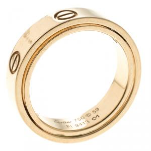 Cartier Secret Love 18k Yellow Gold Band Ring Size 59