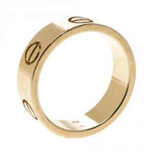 Cartier Love 18k Rose Gold Band Ring Size 51