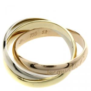 Cartier Trinity 18K 3-Tone Gold Ring Size 52