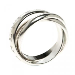 Cartier Or Amour Et Trinity 18k White Gold Ring Size 57