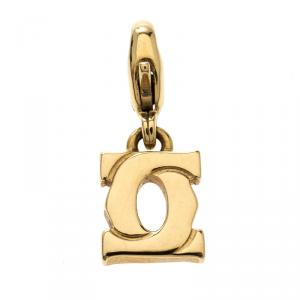 Cartier Mini Double C 18K Yellow Gold Charm