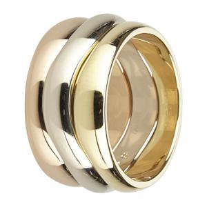 Cartier Love Me 18K 3-Tone Ring Size 55