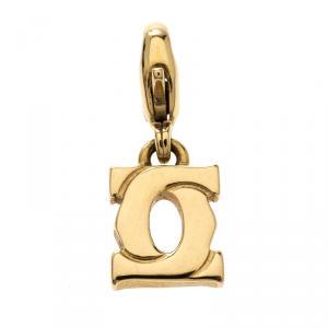Cartier Mini Double C 18K Yellow Gold Charm