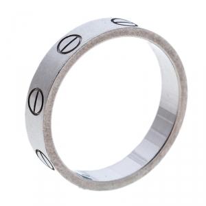 Cartier Love 18k White Gold Mini Ring Size 49