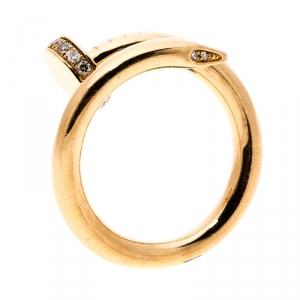 Cartier Juste Un Clou Diamond & 18k Rose Gold Ring 50