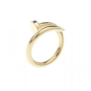 Cartier Juste Un Clou 18k Yellow Gold Ring Size 51
