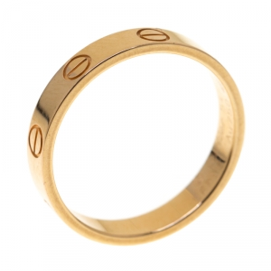 Cartier Love 18k Rose Gold Mini Band Ring Size 54