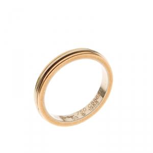 Cartier Trinity De Cartier 18k Three Tone Gold Band Ring Size 53