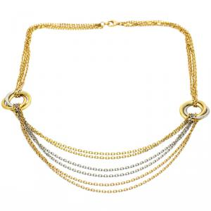 Cartier Trinity Tri Color 18K Gold Waterfall Necklace