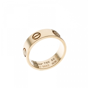 Cartier Love 18k Yellow Gold Band Ring Size 50