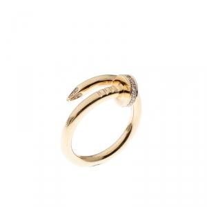 Cartier Juste Un Clou Diamond & 18k Yellow Gold Ring 54
