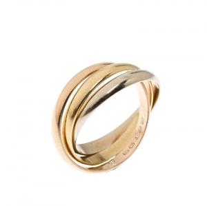 Cartier Trinity De Cartier Three Tone 18k Gold Band Ring Size 52
