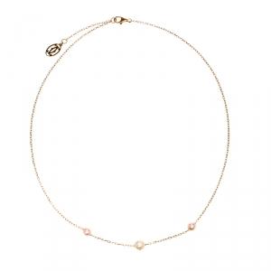Cartier Diamants Legers De Cartier Pink Sapphire Diamond 18k Rose Gold Station Necklace