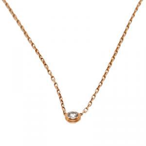 Cartier Diamants Légers Diamond 18k Rose Gold Pendant Necklace