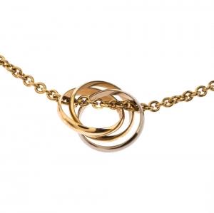 Cartier Trinity 3 Tone 18k Gold Pendant Necklace