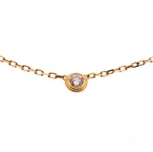 Cartier Diamants Légers De Cartier Diamond & 18k Yellow Gold SM Necklace