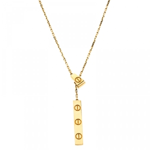 Cartier Love 18k Yellow Gold Lariat Necklace