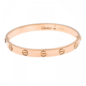 Cartier Love 18K Rose Gold Bracelet 15 cm