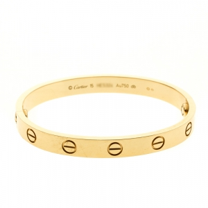 Cartier Love 18k Yellow Gold Bracelet 15