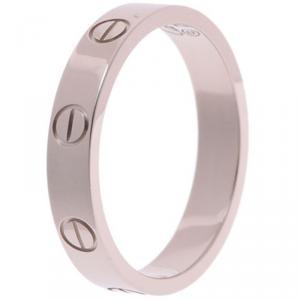 Cartier Love 18K White Mini Ring Band Size 54