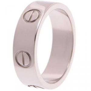 Cartier Astro Love 18k White Gold Ring Size 51