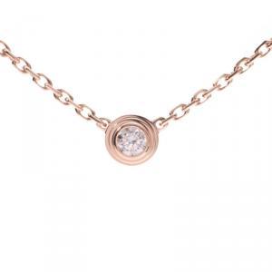 Cartier Diamants Diamond 18k Rose Gold Pendant Necklace XS