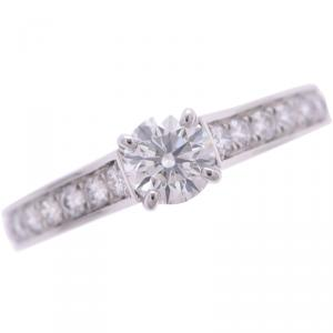 Cartier Solitaire Daimond Band Ring Size 48