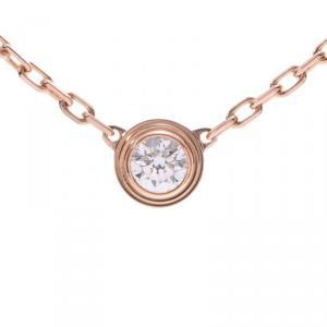 Cartier Diamanreger 18K Rose Gold And Diamond Pendant Necklace