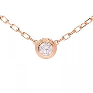 Cartier Diamants Légers Diamond 18k Yellow Gold Pendant Necklace