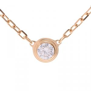 Cartier Diamanreger 18K Yellow Gold And Diamond Pendant Necklace