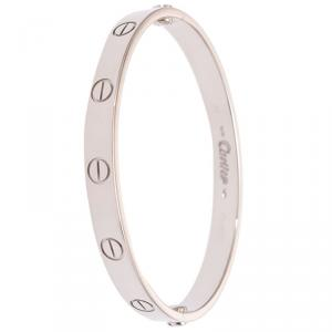 Cartier Love 18k White Gold Bracelet 16