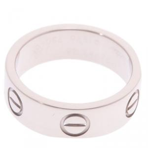 Cartier Love 18K White Gold Band Ring Size 48