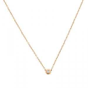 Cartier Diamants Légers Diamond 18k Rose Gold Pendant Necklace XS