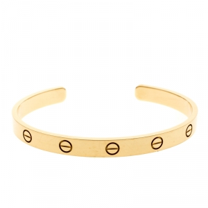 Cartier Love 18k Yellow Gold Open Bracelet 18