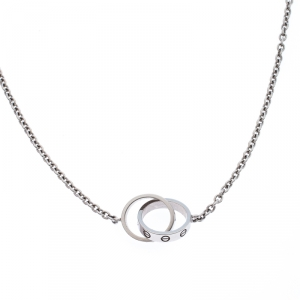 Cartier Love 2 Hoops 18k White Gold Necklace