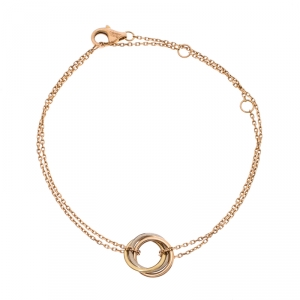 Cartier Trinity Three Tone 18K Gold Chain Bracelet