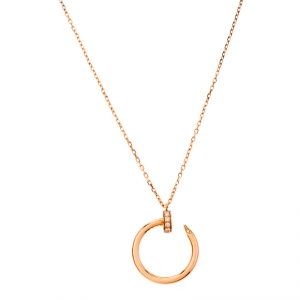 Cartier Juste Un Clou Diamond 18k Rose Gold Pendant Necklace
