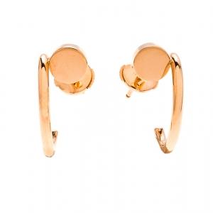 Cartier Juste Un Clou 18k Rose Gold Hoop Earrings