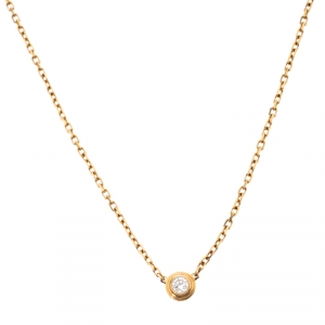 Cartier Diamants Légers Diamond 18k Yellow Gold Pendant Necklace
