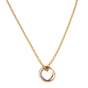 Cartier Trinity De Cartier 18K Three Tone Gold Pendant Necklace