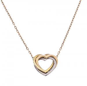 Cartier Trinity de Cartier Heart Three Tone 18k Gold Pendant Necklace