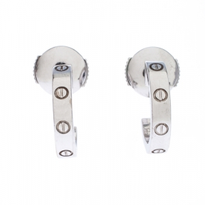Cartier Love 18k White Gold Huggie Earrings